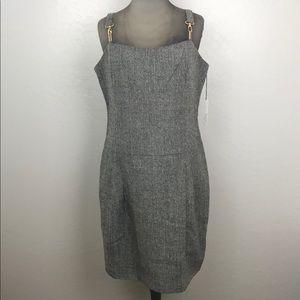 Vertigo Paris Tweed Herringbone Dress